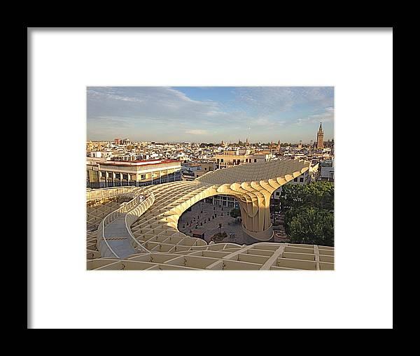 Metropol Parasol Framed Print featuring the photograph Vista De Sevilla by Hannah Rose