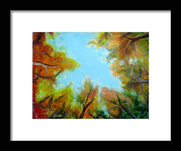 Framed Print featuring the painting Vista Of The Past by Tracy Truong