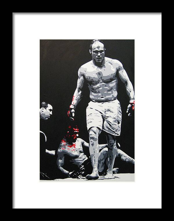 Mma Framed Print featuring the painting Vitor Destroyed by Geo Thomson