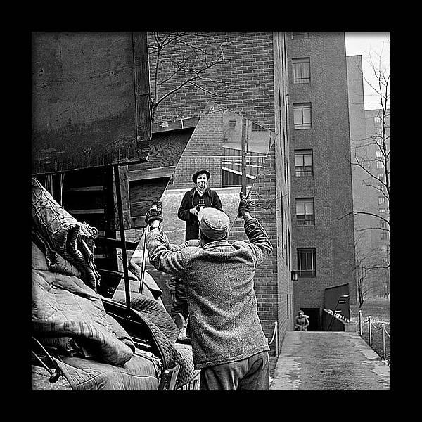 Vivian Maier self portrait probably taken in Chicago Illinois 1955 by David Lee Guss
