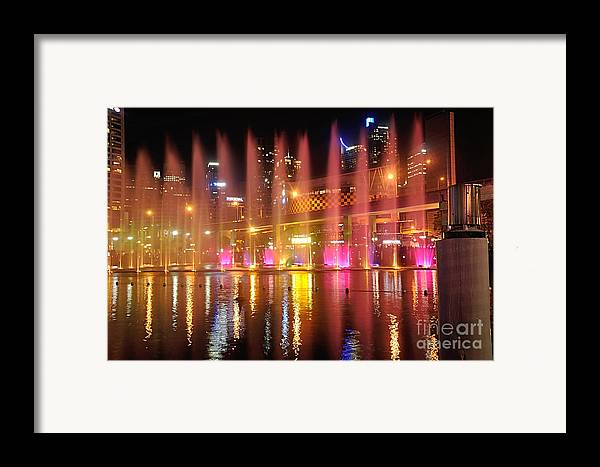 Photography Framed Print featuring the photograph Vivid Sydney By Kaye Menner - Vivid Aquatique by Kaye Menner