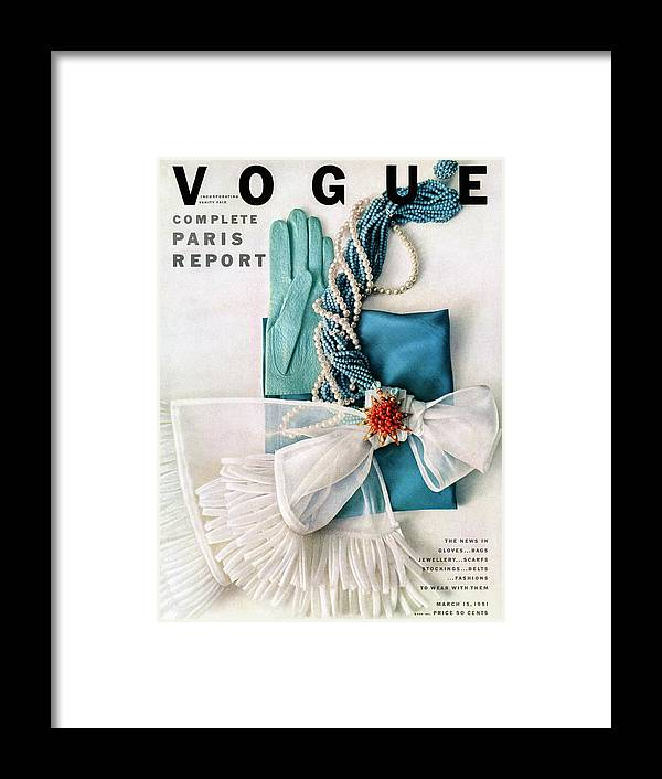 Accessories Framed Print featuring the photograph Vogue Cover Featuring Various Accessories by Richard Rutledge