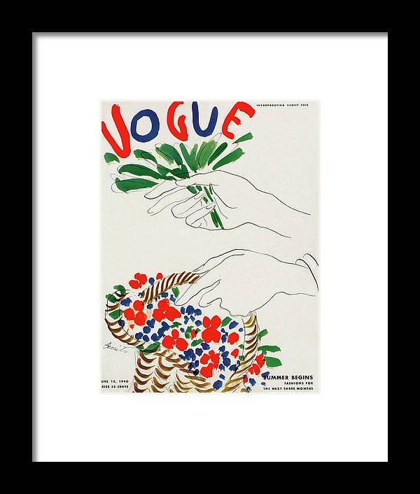 Illustration Framed Print featuring the photograph Vogue Cover Illustration Of Hands Holding by Eduardo Garcia Benito
