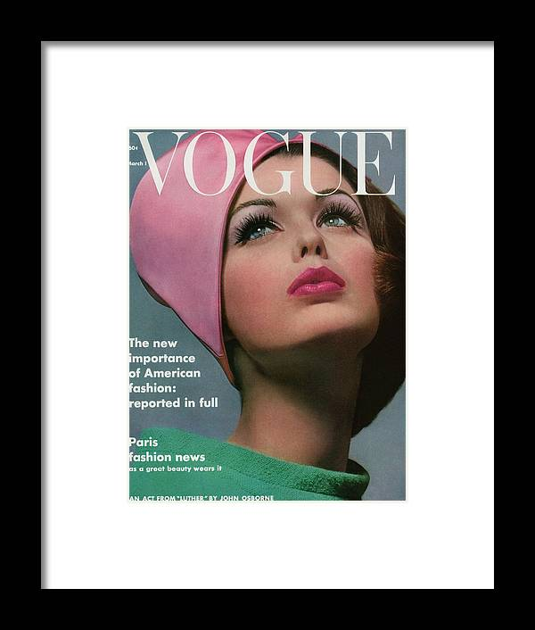 Accessories Framed Print featuring the photograph Vogue Cover Of Dorothy Mcgowan by Bert Stern