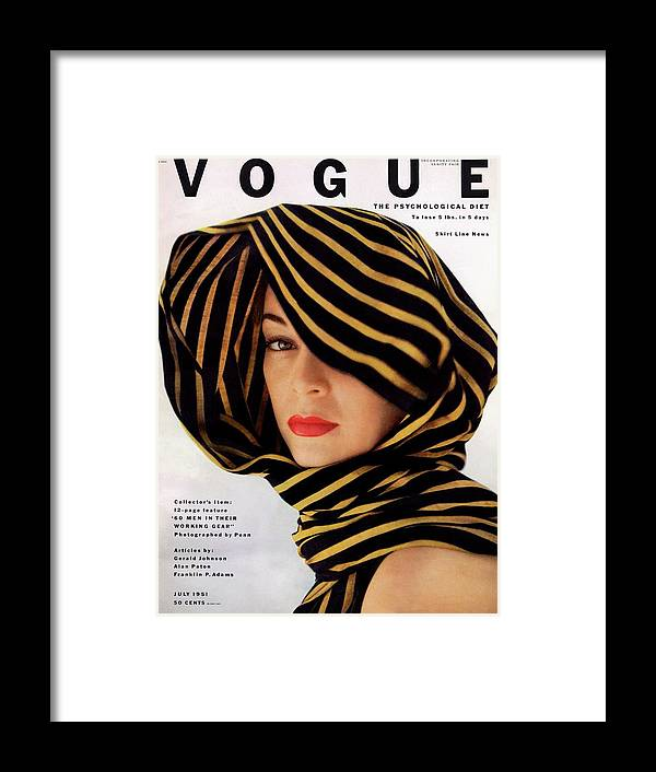 Fashion Framed Print featuring the photograph Vogue Cover Of Jean Patchett by Clifford Coffin
