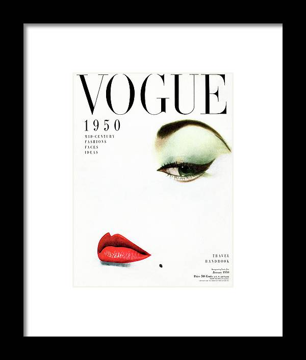 Beauty Framed Print featuring the photograph Vogue Cover Of Jean Patchett by Erwin Blumenfeld