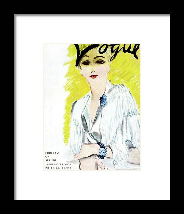 Accessories Framed Print featuring the photograph Vogue Magazine Cover Featuring A Woman Wearing by Carl Oscar August Erickson