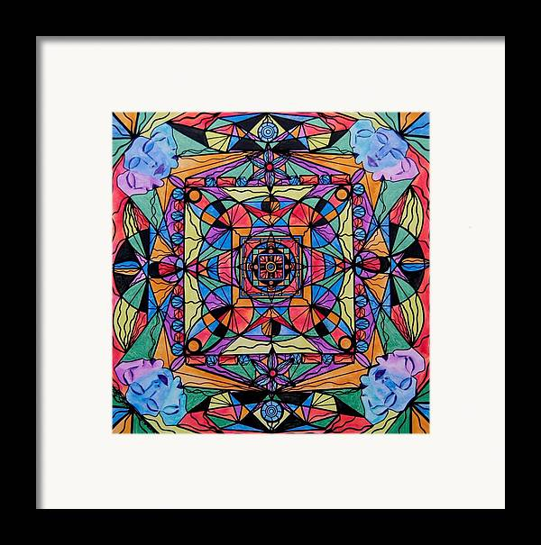 Frequency Painting Framed Print featuring the painting Voice Dialogue The One by Teal Eye Print Store