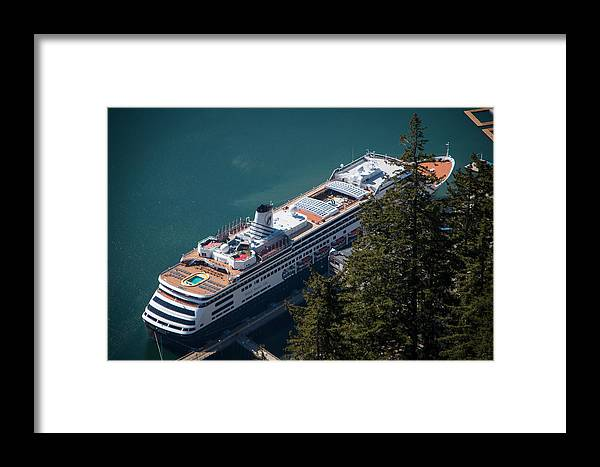 Cruise Ship Framed Print featuring the photograph ms Volendam by Marilyn Wilson