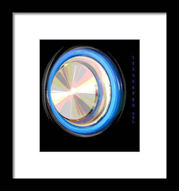 Abstract Framed Print featuring the digital art Volume Control by Lena Wilhite