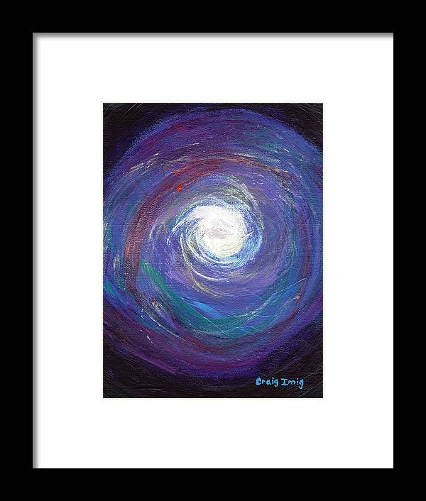 Cosmic Framed Print featuring the painting Vortex Of Love by Craig Imig