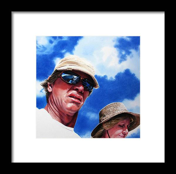 Sky Framed Print featuring the painting Voyage by Denny Bond
