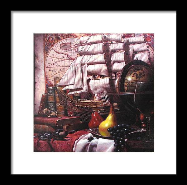 Still Life Framed Print featuring the painting Voyage Round The World by Takayuki Harada