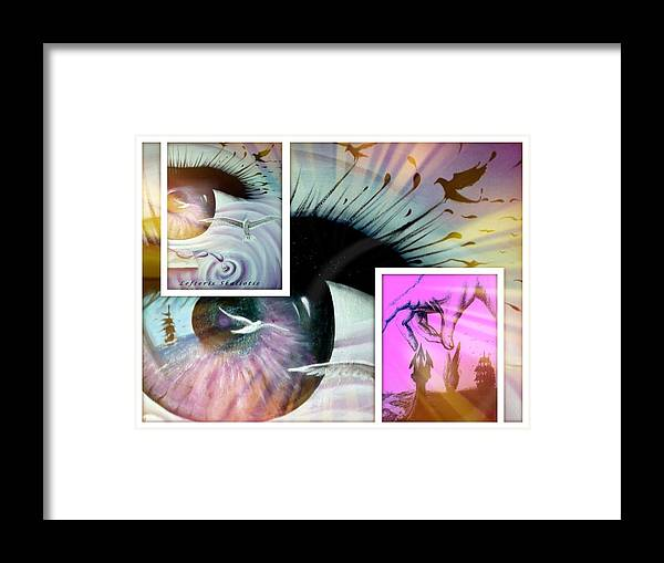 Seaguls Framed Print featuring the painting Voyager Movements by Lefteris Skaliotis