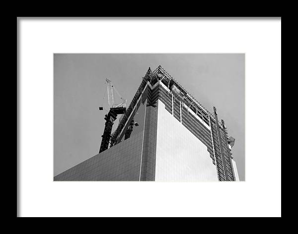 Wtc Framed Print featuring the photograph W T C 4 In Black And White by Rob Hans