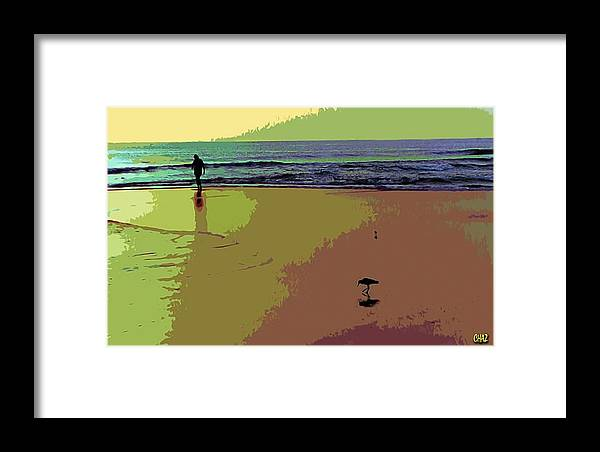 Beach Framed Print featuring the painting Alone by CHAZ Daugherty