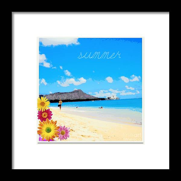 Beach Framed Print featuring the photograph Waikiki Beach by Mindy Bench