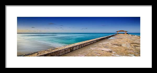 Waikiki Framed Print featuring the photograph Waikiki Beach Walk Panoramic by Tin Lung Chao