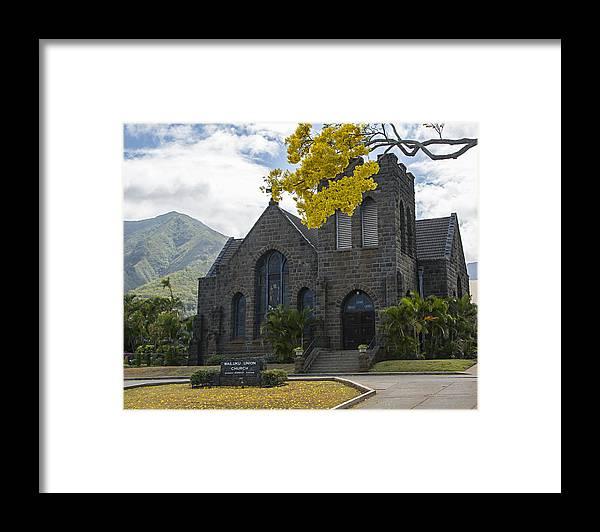 Church Framed Print featuring the photograph Wailuku Church by Carol Ellerton