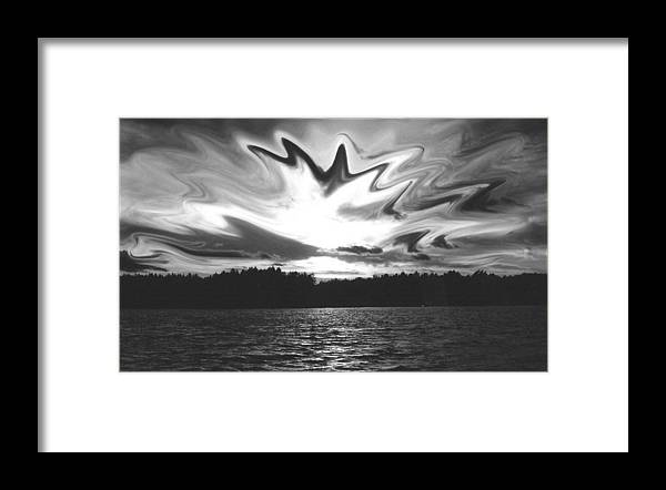 Framed Print featuring the photograph Waining Skies by Matthew Barton