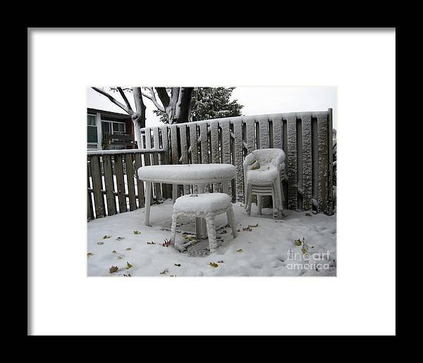Chairs Framed Print featuring the photograph Waiting by Andre Paquin