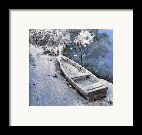 Boat Framed Print featuring the painting Waiting For A Spring by Dragica Micki Fortuna