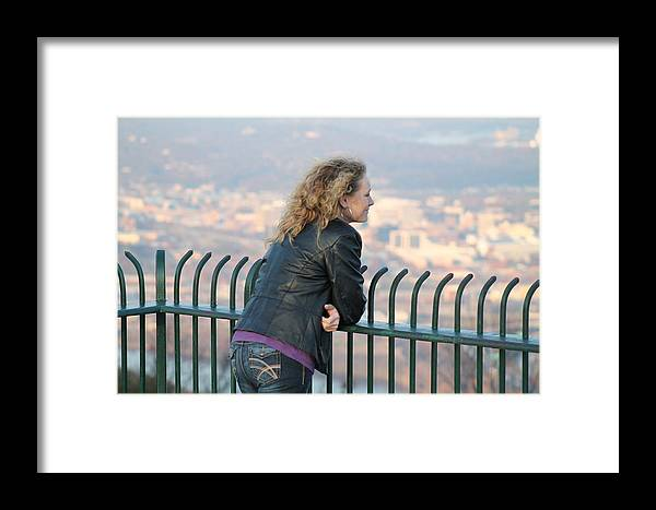 Female Framed Print featuring the photograph Pondering Life by Robin Vargo