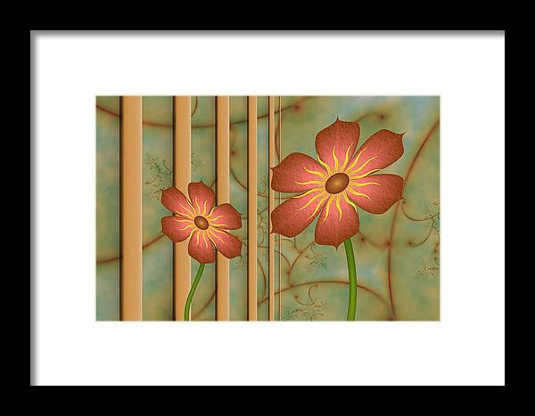 Fractal Framed Print featuring the digital art Waiting For Spring by Gabiw Art