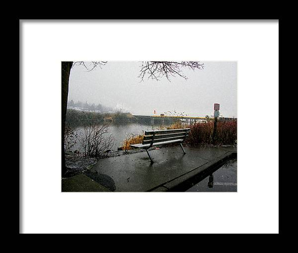 Photograph Framed Print featuring the photograph Waiting For Spring by Kathy Moll