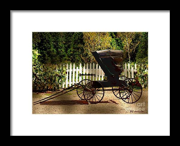 Amish Framed Print featuring the painting Waiting For The Mare by RC DeWinter