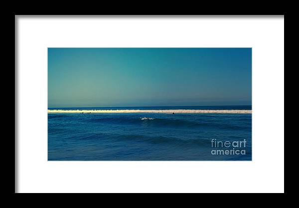 Landscape Framed Print featuring the photograph Waiting For The Perfect Wave by Nina Prommer