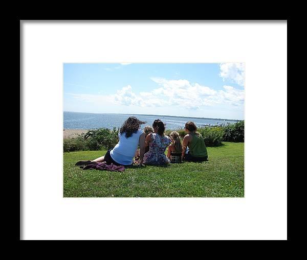 Ocean View Framed Print featuring the photograph Waiting For Their Return by Mia Capretta