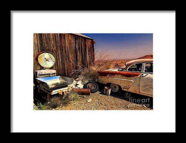 Car Framed Print featuring the photograph Waiting on a Woman by Brenda Giasson