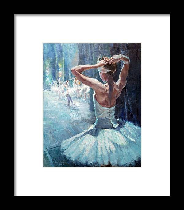 Wallis Framed Print featuring the painting Waiting On Cue by Eric Wallis