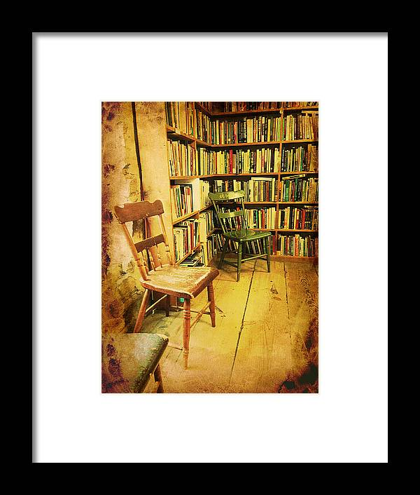 Books Framed Print featuring the photograph Waiting Room by Richard Reeve