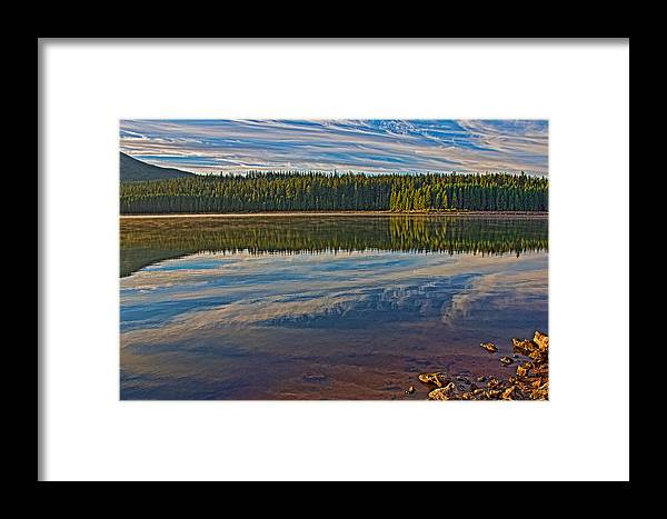 Lake Framed Print featuring the photograph Wakeful by Britt Runyon
