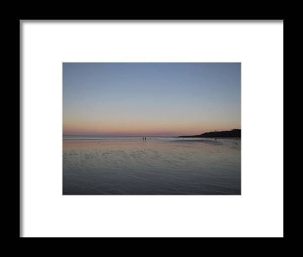 Beach Framed Print featuring the photograph Walk At Sunset by Elizabeth Hardie