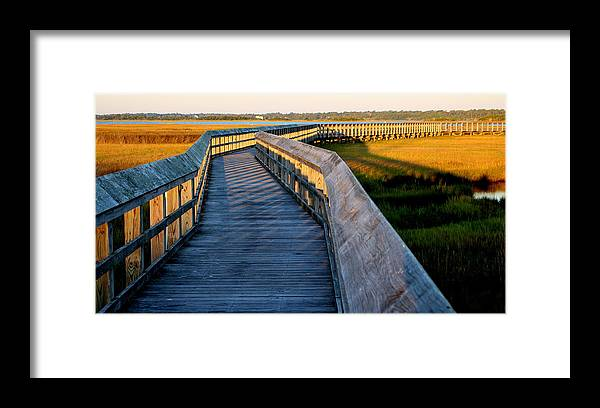 Topsail Framed Print featuring the photograph Walk Into The Sound by Rand Wall