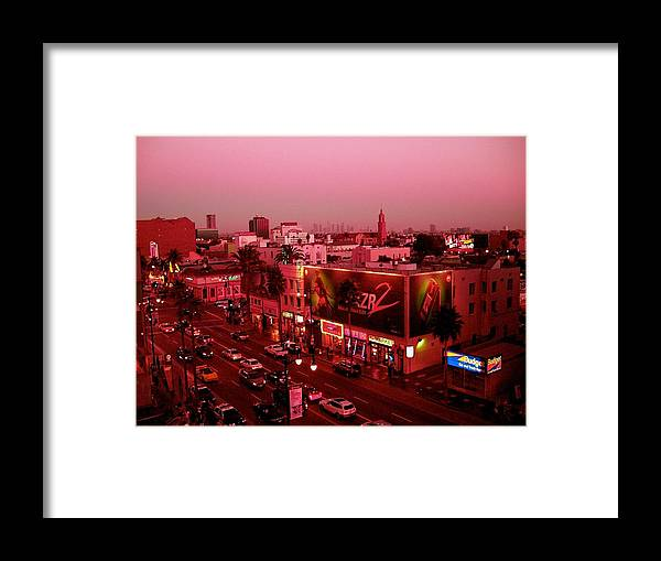 Hollywood Prints Framed Print featuring the photograph Walk Of Fame In Pink by Monique's Fine Art