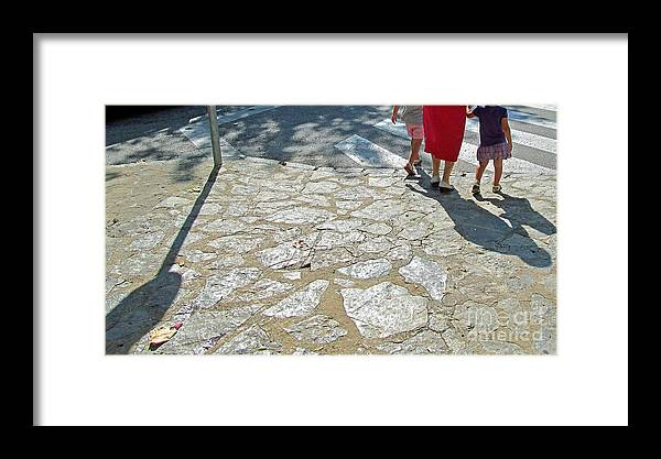 Feet Framed Print featuring the photograph Walk Slowly Grandma by Tina M Wenger
