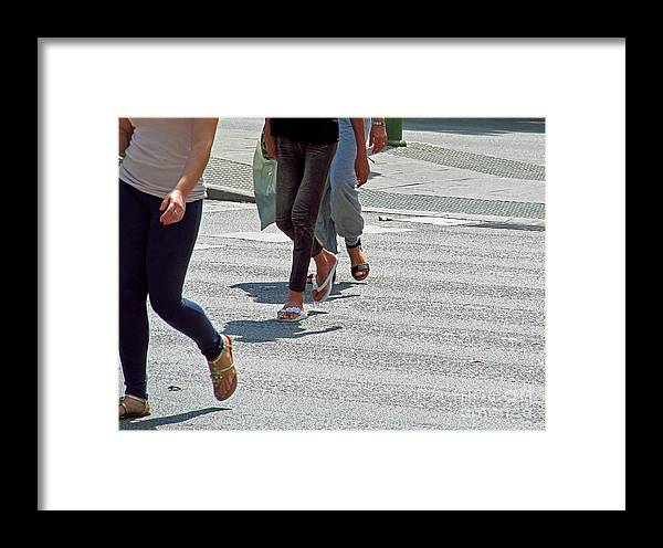 Feet Framed Print featuring the photograph Walk To The Right by Tina M Wenger