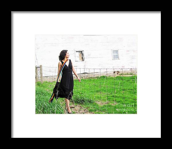 Multiple Sclerosis Framed Print featuring the photograph Walk With Hope In Your Heart by Tina M Wenger