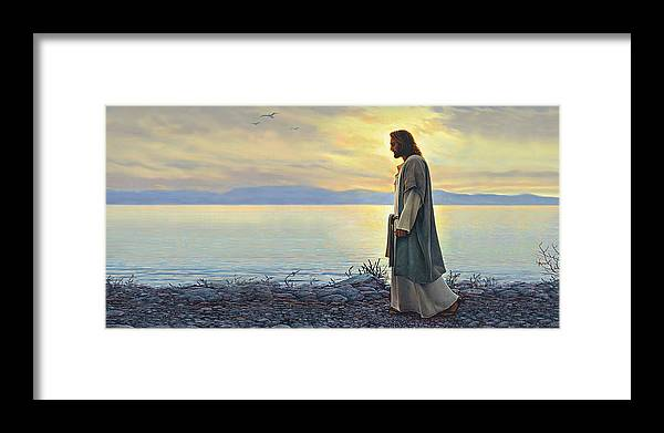 Jesus Framed Print featuring the painting Walk With Me by Greg Olsen