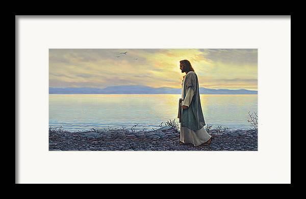Walk With Me Framed Print By Greg Olsen