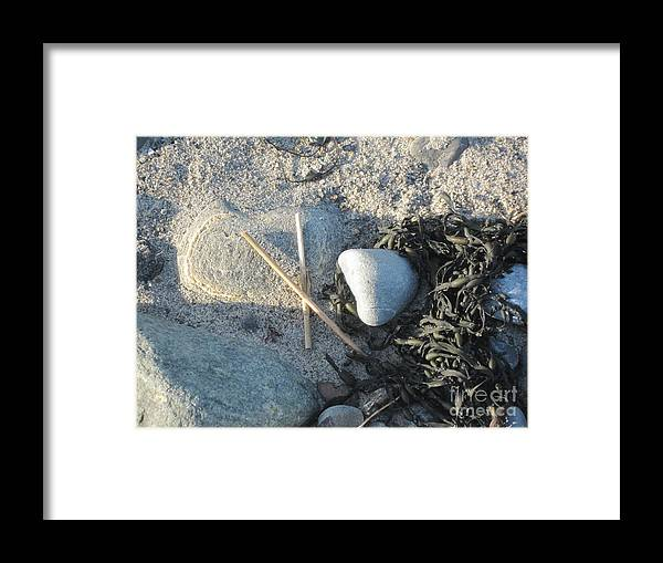 Beach Framed Print featuring the photograph Walking Beach Before Winter Comes by Barbara Milhender