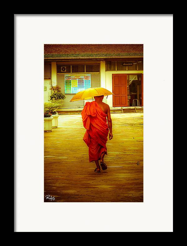 Monk Framed Print featuring the photograph Walking In The Sun by Allan Rufus