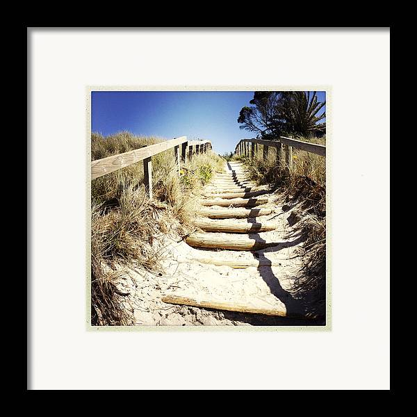 Wood Framed Print featuring the photograph Walkway by Les Cunliffe