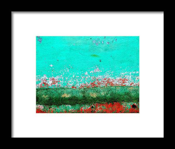 Texture Framed Print featuring the digital art Wall Abstract 111 by Maria Huntley