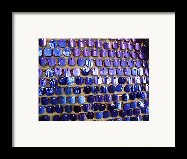 Blue Framed Print featuring the photograph Wall Of Blue by Anna Villarreal Garbis