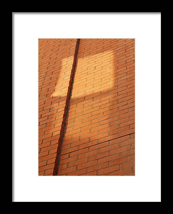 Bricks Framed Print featuring the photograph Walls Reflect Openings 2013 by James Warren